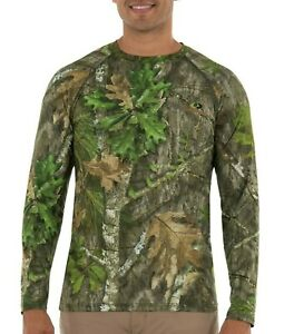 Mossy Oak Men's Flex Long Sleeve Insect Repellant Sustainable Shirt UVF 50 NWT