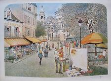 "ROLF RAFFLEWSKI ""MONTMARTRE ARTIST"" Hand Signed Ltd Editon Lithograph Art FRANCE"