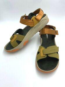 Merrell Mens 13 Belize Convertible Web Sandals Butternut Tan Rust Orange