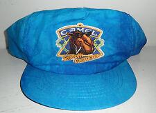 "Vintage Blue Nylon ""CAMEL CIGARETTES/SMOOTH CHARACTER"" Snap-Back Men's Cap Hat"