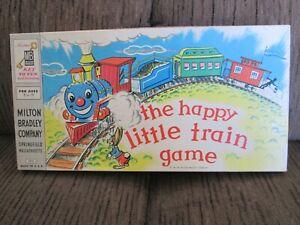 "Vintage 1957 Milton Bradley ""The Happy Little Train"" Board Game - Complete"
