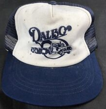 Dalbo Blue And White Vintage Trucker Hat Flat Bill Snap Back Skater Hat cf0b60337b6