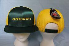 OREGON DUCKS Big Satin Snapback CAP/HAT T.O.W. Fits All Womens Sizes NWT $25