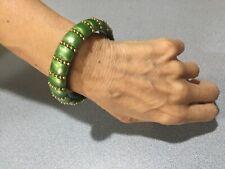 FANTASTIC Dolce & Gabbana Bangle Bracelet  BRILLIANT GREEN  & GOLD TONE