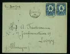 Haiti 1905 Cover Port au Prince to Leipzig, Germany via Ny franked Scott 98 pair