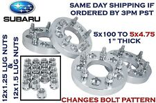 "4Pc Aluminum 5x100 To 5x4.75"" Wheel Spacers Conversion Adapters For Subaru Scion"