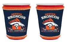 Denver Broncos 2015 AFC Champions Glass or Plastic Cup Insulators - 2-Pack