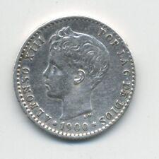 Spain - España 50 centimos 1900 KM 705 VF+ Coin Circulated