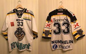 5+/5 HC Lugano #33 Nummelin Size XS Ice Hockey jersey shirt trikot InterHockey
