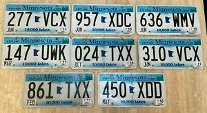 American License Number Plate MINNESOTA  Metal Original Vintage State Plates USA