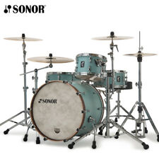 Sonor SQ1 Series 3pc Shell Pack Cruiser Blue with Walnut BD Hoops SQ1-320NMCRB