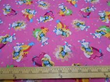 1 yard Smurfette Fabric