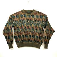 Vintage Croft & Barrow Coogi Style Cosby Knit Pullover Sweater Mens Size Large