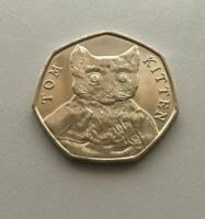 Tom Kitten - Beatrix Potter 50p Fifty Pence coin 2017 - Uncirculated