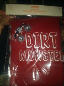 New nip Gymboree Gymmies 8 boy pajamas short sleeve set dirt monster truck red