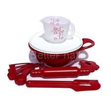 Tupperware® NEW Kids TupperToys Red Mini Mix It Set Pretend Baking Dish Measure