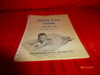 Vintage Infant Care Guide Mothers Instructions Records Copyright 1970 Severson