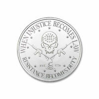 1 - 1 oz .999 Silver Round - 1 oz Silver Deuce Four Skull Type II - 2017 - BU