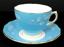 Colclough Vintage Bone China Tea Cup and Saucer Blue and White England