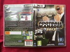 FOOTBALL MANAGER 2013 SEGA PC MAC WINDOWS WORLD FREE POST