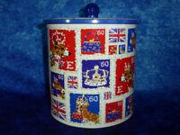 2012 QUEEN'S DIAMOND JUBILEE COLLECTABLE Biscuit Barrel / Tin. Crown / Corgis #1