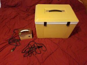 Vintage Koolatron FIA-M Iceless Travel Cooler/Refrigerator & Power Adapter