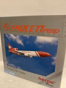 Herpa Diecast Faucett Peru L-1011 -1 1:500 Tri Star Scale Model Boxed