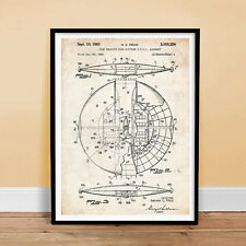 FLYING SAUCER US AIR FORCE AIRCRAFT UFO ALIEN PATENT PRINT 18X24 POSTER PRICE...