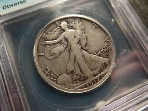 1917-S OBV  ICG VG 8 Walking Liberty Half Dollar Nice SLABZ