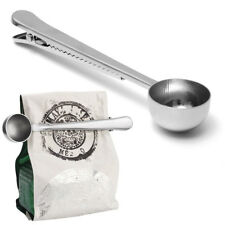 Stainless Steel Ground Coffee Measuring Scoop Spoon With Bag Seal Clip Creatives