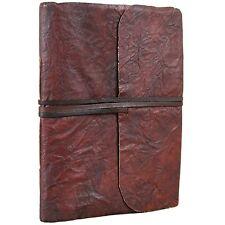Crushed Leather Journal Handmade Vintage Blank Notebook Diary Sketchbook Book