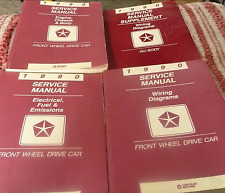 1990 DODGE DYNASTY SPIRIT LEBARON SHADOW New Yorker FWD Service Shop Manual Set
