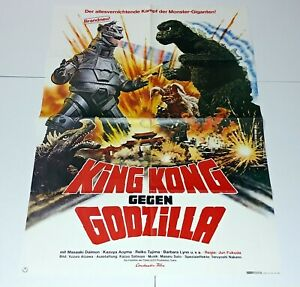 KING KONG vs GODZILLA Mechagodzilla VINTAGE Monster Movie Poster Germany Kaiju
