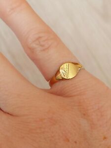 Childs 9ct Gold Ring Or Pinky Finger Size J