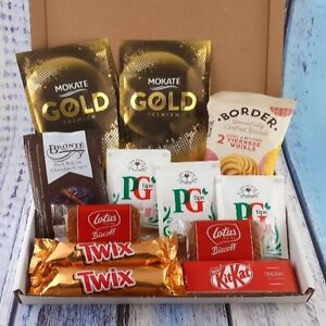 Tea, Coffee, Biscuit Letterbox Hamper, Tea Hamper, Coffee Hamper, Snack Box