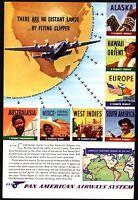 1954 UNITED AIR LINES Waikiki Hawaii Diamond Head Outrigger Canoe Travel AD