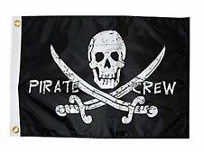 Taylor Made Products 1799, Pirate Heads Boat Flag, 12 inch x 18 inch, Pirate Cre