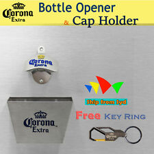 Corona wall mounted bottle opener Stainless Bar Cap Catcher+Screws Key Ring Free