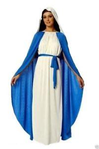 Adult Virgin Mary Costume Nativity Christmas Ladies Womens Fancy Dress