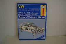 VW Polo & Derby USED Haynes Workshop Service Repair Manual 1976-1982 (335)