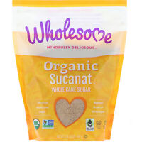 Wholesome   Organic Sucanat  Whole Cane Sugar  2 lb  907 g