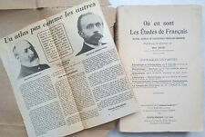 ALBERT DAUZAT.OU EN SONT LES ETUDES DE FRANCAIS.BIBLIOTHEQUE DU FRANCAIS.1934
