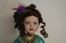"""1999 BRASS KEY PORCELAIN DOLL DANCING THROUGH THE CENTURIES WITH STAND 16"""" TALL"""