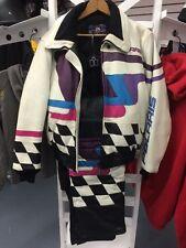 Vintage Womans POLARIS Racing Hein Gericke Leather Snowmobile Suit Jacket Pants