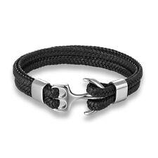 Bracelet Anchor Marine Nautical Men's Leather Jewelry Multi-layer Rope Bracelets