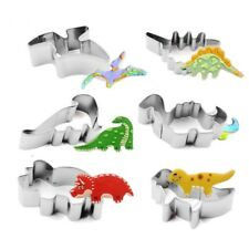 6Pcs Stainless Steel Dinosaur Fruit Pastry Cookie Biscuit Cutter Cake Mold DIY
