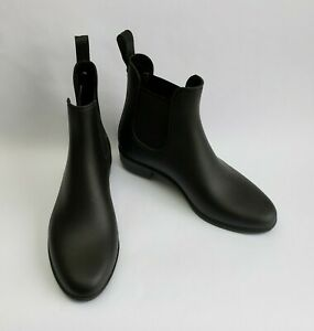 Sam Edelman Ankle Boots Black Booties Flats Rubber Rain Tinsley Womens Size 6 M