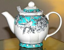 222 FIFTH ADELAIDE TURQUOISE TEAPOT AND LID NEW PORCELAINE 5 CUP