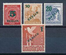 Ungeprüfte postfrische Briefmarken aus Berlin (1948-1949)