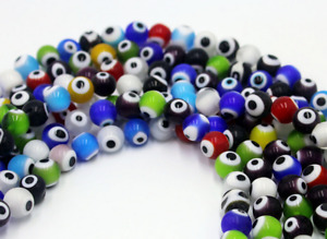 Wholesale Mixed EVIL EYE Round MILLEFIORI Glass BEADS 4MM 6MM 8MM 10MM 12MM